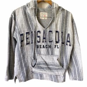 Beach By Exist PENSACOLA Mexican Baja Crop Hoodie